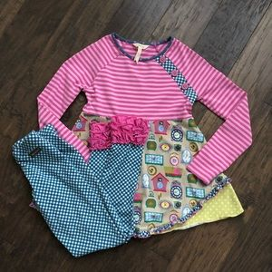 Girls Matilda Jane Matching Outfit Top & Leggings